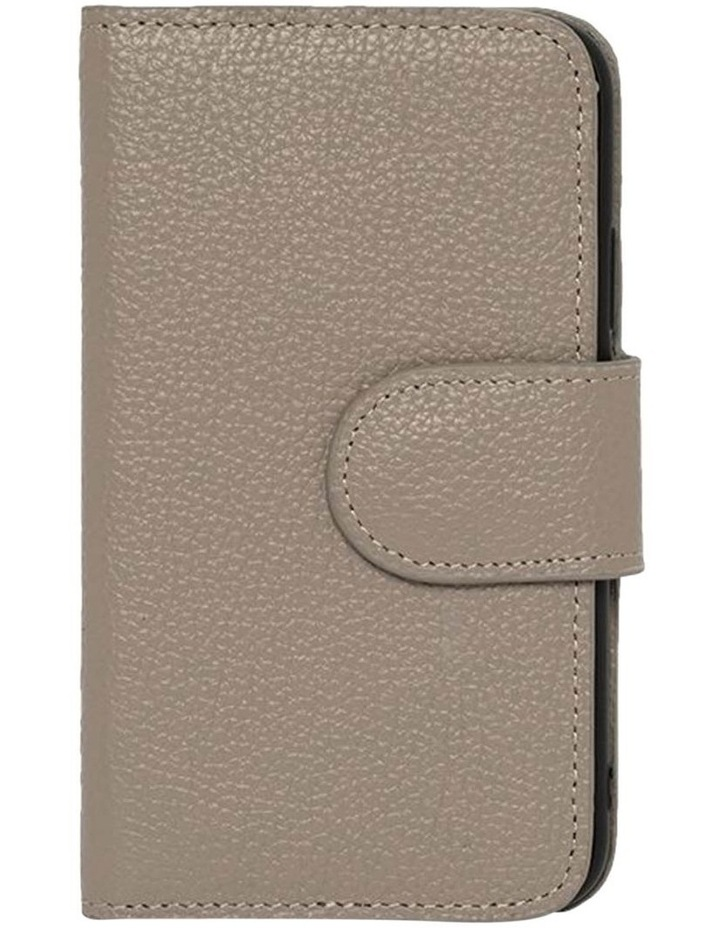 Leather Flip Phone Case For iPhone XS / X - Grey image 1