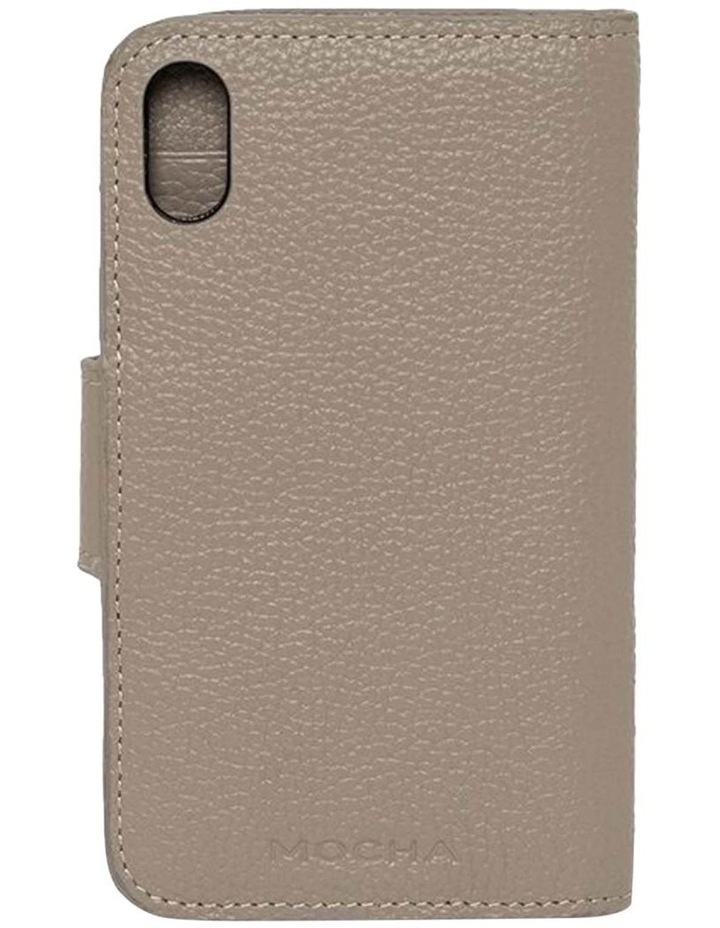 Leather Flip Phone Case For iPhone XS / X - Grey image 2