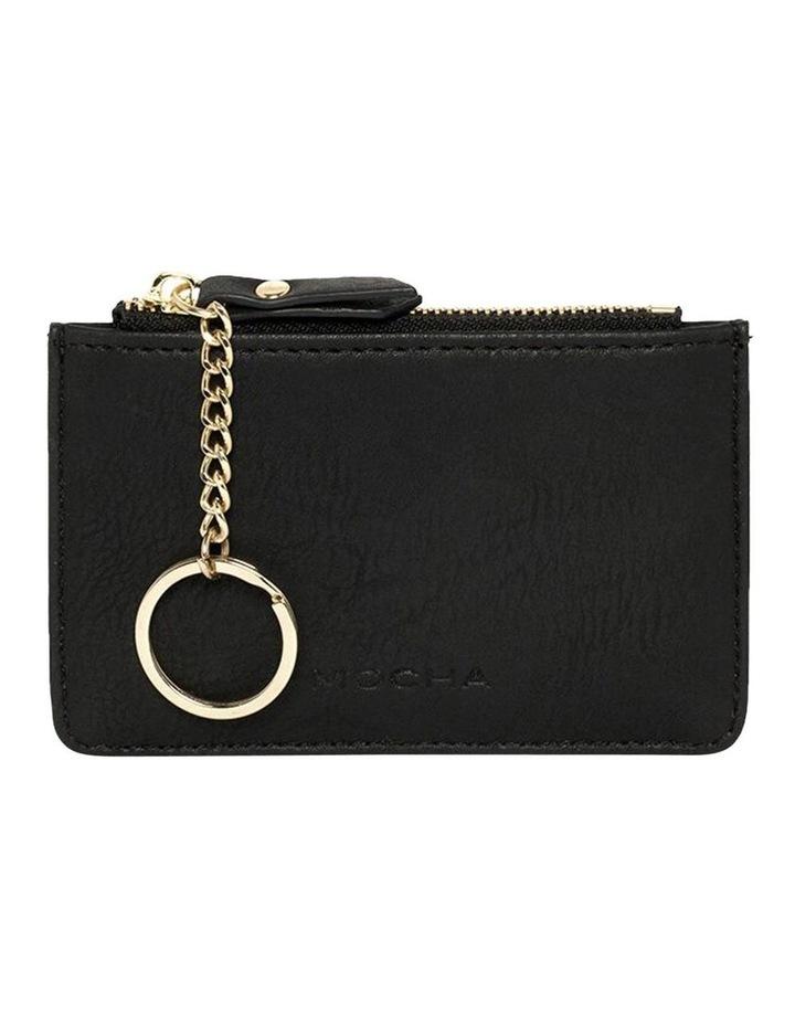Key Ring Coin Wallet-Black image 1