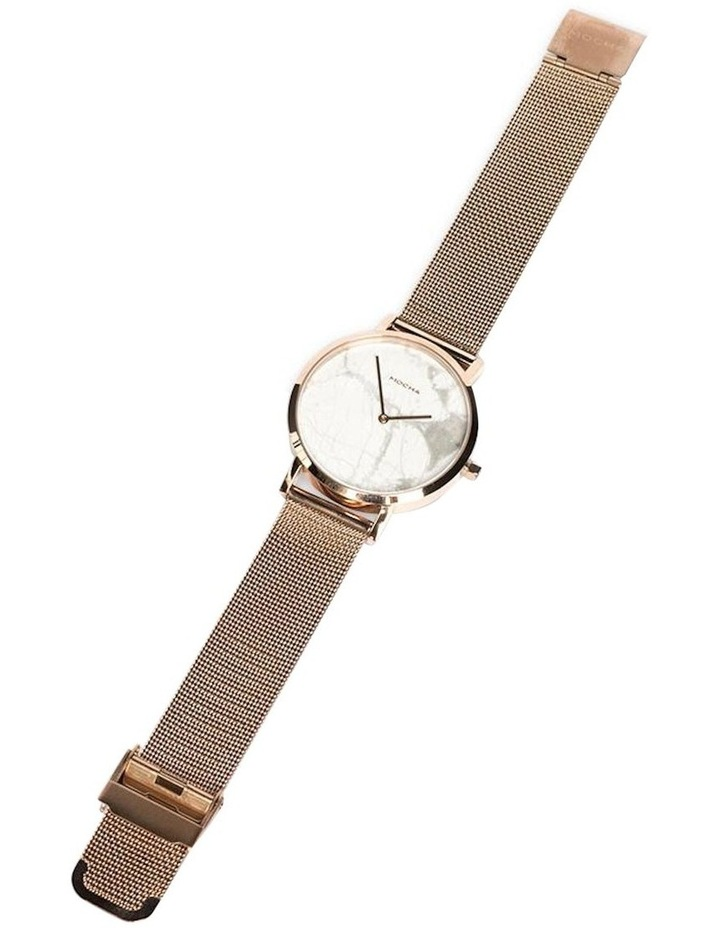 38mm Marble Watch - White/Rose Gold Mesh image 1