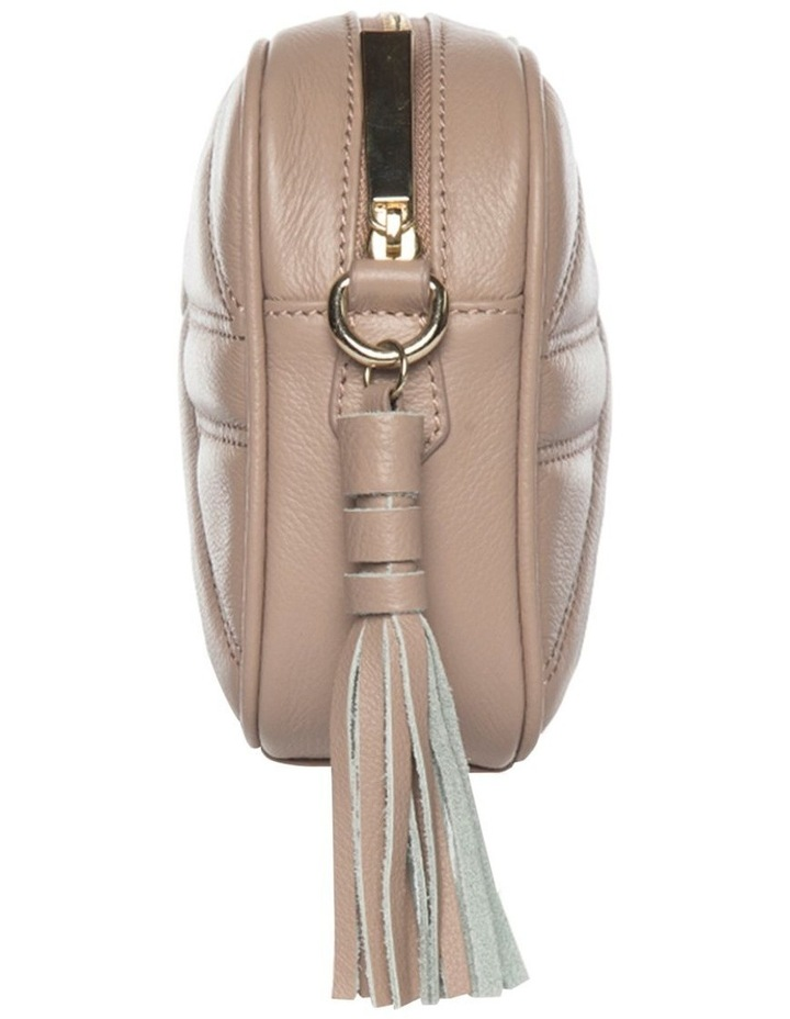 Aztec Leather Crossbody Bag - Black image 3