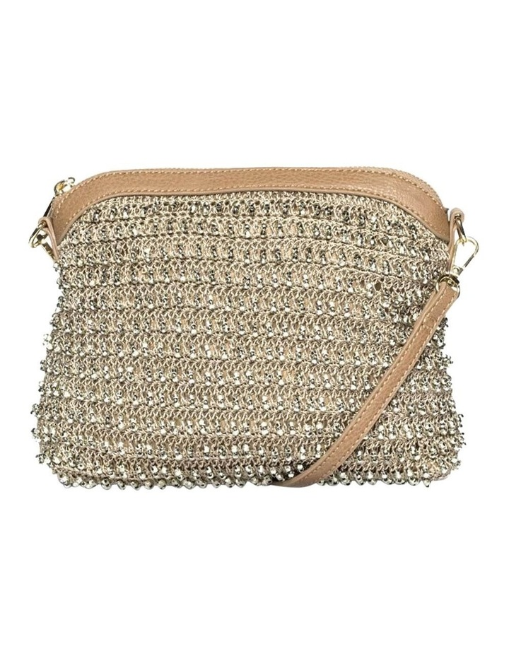 Beaded Gold Crossbody Bag image 1