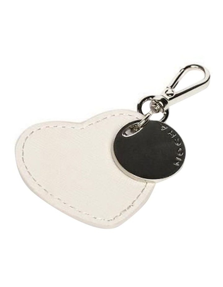 Jane Leather Heart Key Ring - Grey image 1