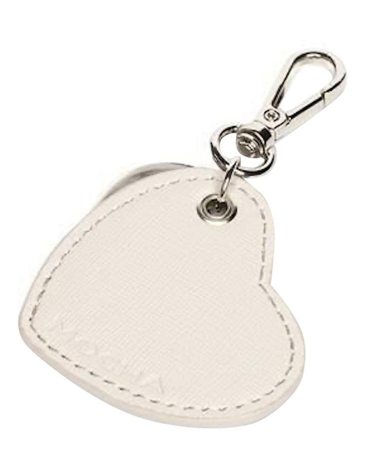 Jane Leather Heart Key Ring - Grey image 2