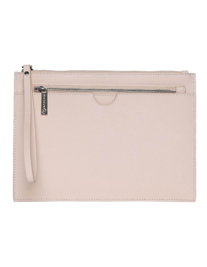 Jane Blush Double Leather Clutch image 1