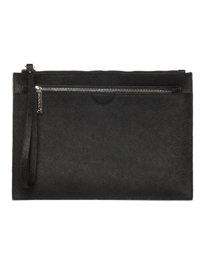 Jane Black Double Leather Clutch image 1