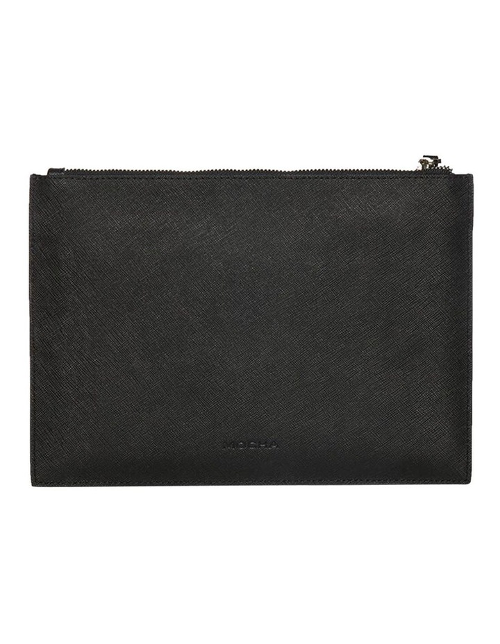 Jane Black Double Leather Clutch image 3