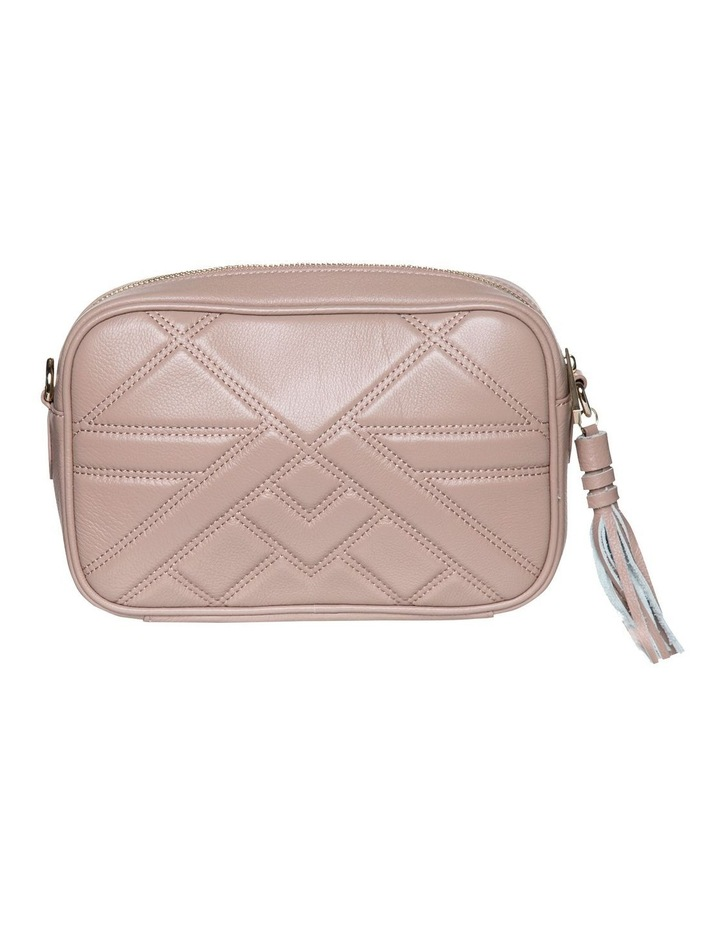 Large Aztec Leather Crossbody Bag - Taupe image 3
