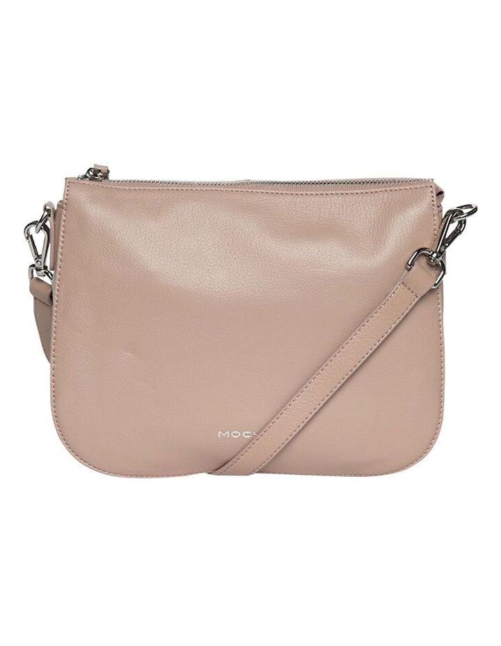 Bella Saddle Leather Crossbody Bag - Taupe image 1