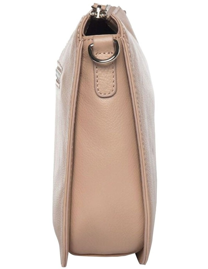 Bella Saddle Leather Crossbody Bag - Taupe image 3
