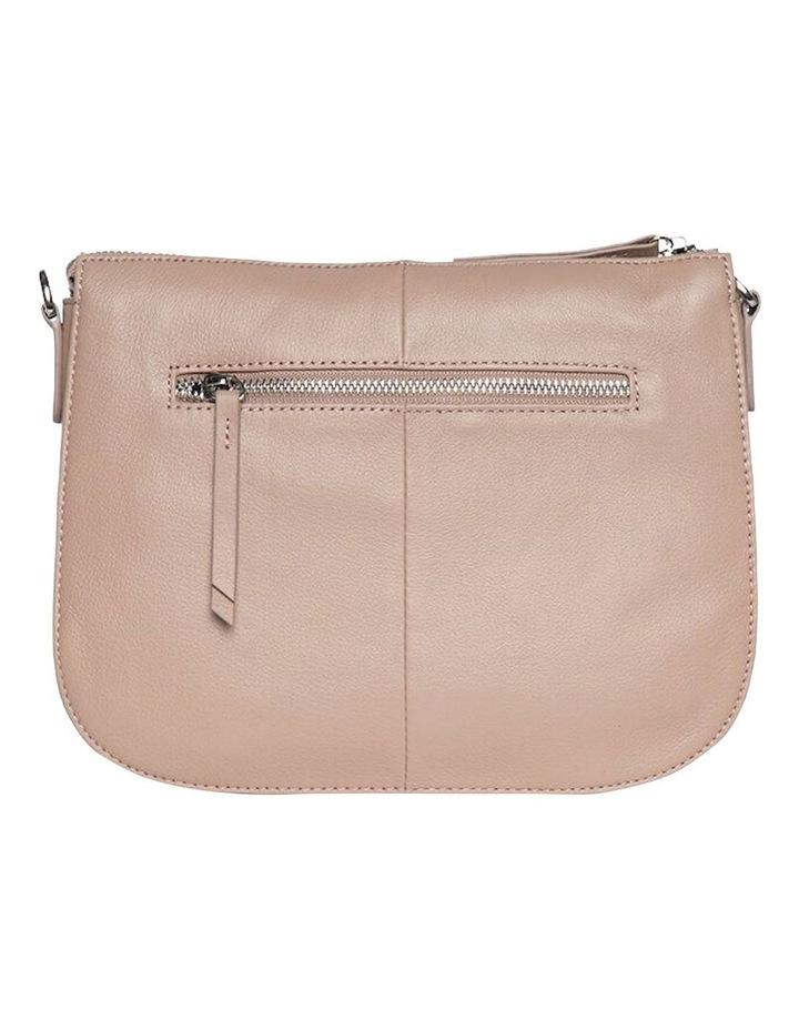 Bella Saddle Leather Crossbody Bag - Taupe image 4