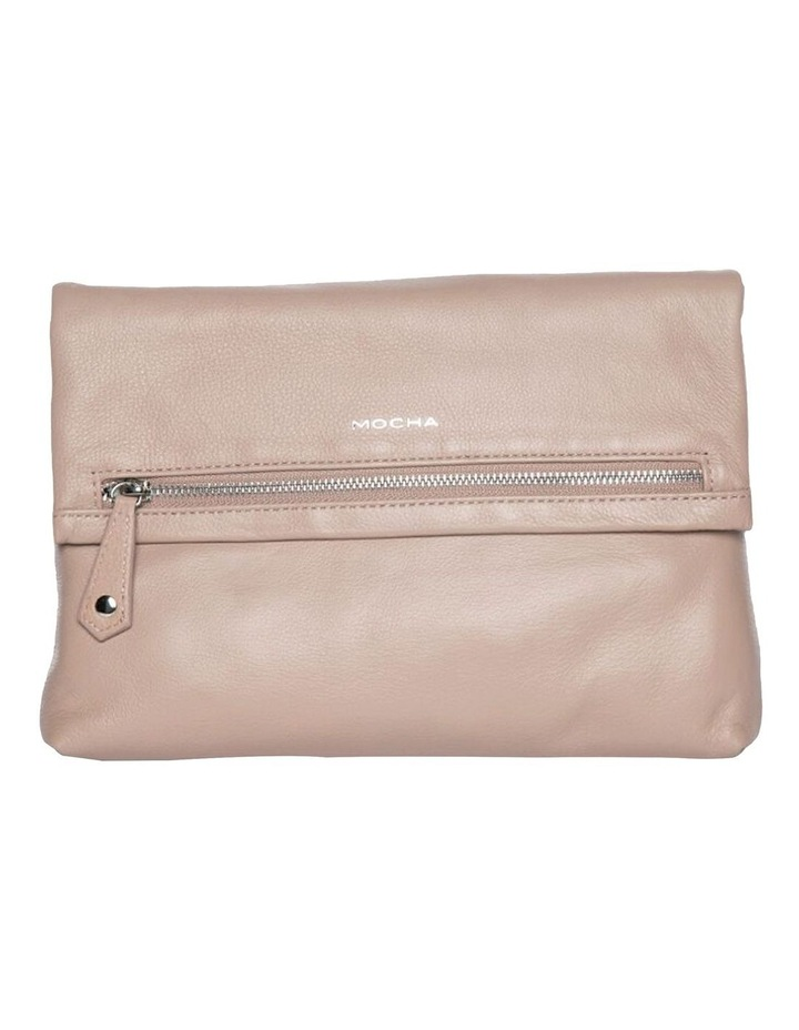 Bella Foldover Leather Crossbody Bag - Taupe image 1