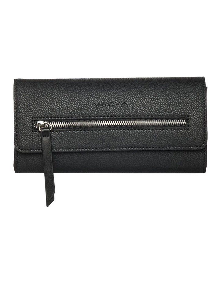 Dual Tone Zip Wallet-Black image 1