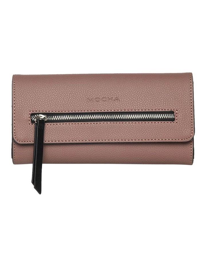 Dual Tone Zip Wallet-Rose image 1