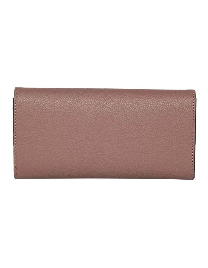 Dual Tone Zip Wallet-Rose image 4