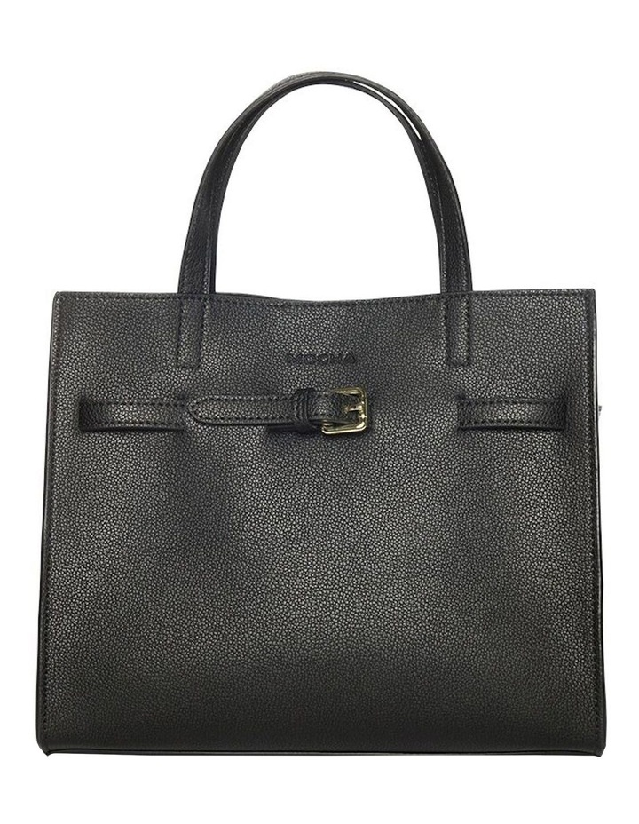 Belt Leather Tote Bag - Black image 1