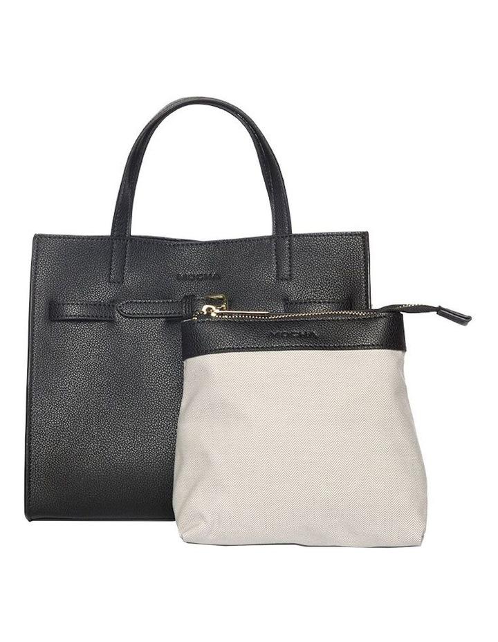 Belt Leather Tote Bag - Black image 2