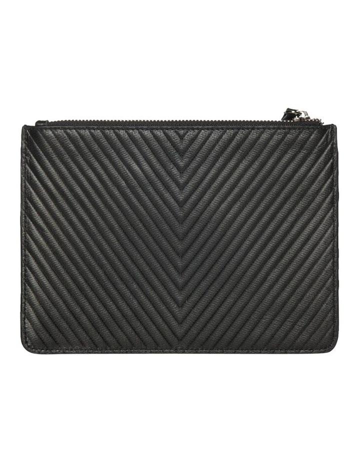 Chevron Stud Leather Clutch-Black image 2