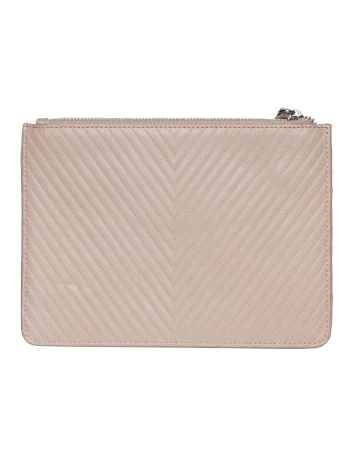 Chevron Stud Leather Clutch - Taupe image 2