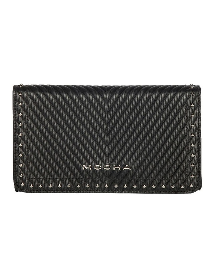 Chevron Black Stud Leather Mini Bag image 1