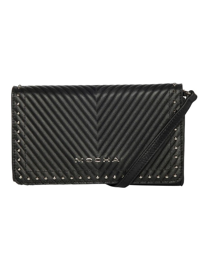 Chevron Stud Leather Mini Bag - Black image 3