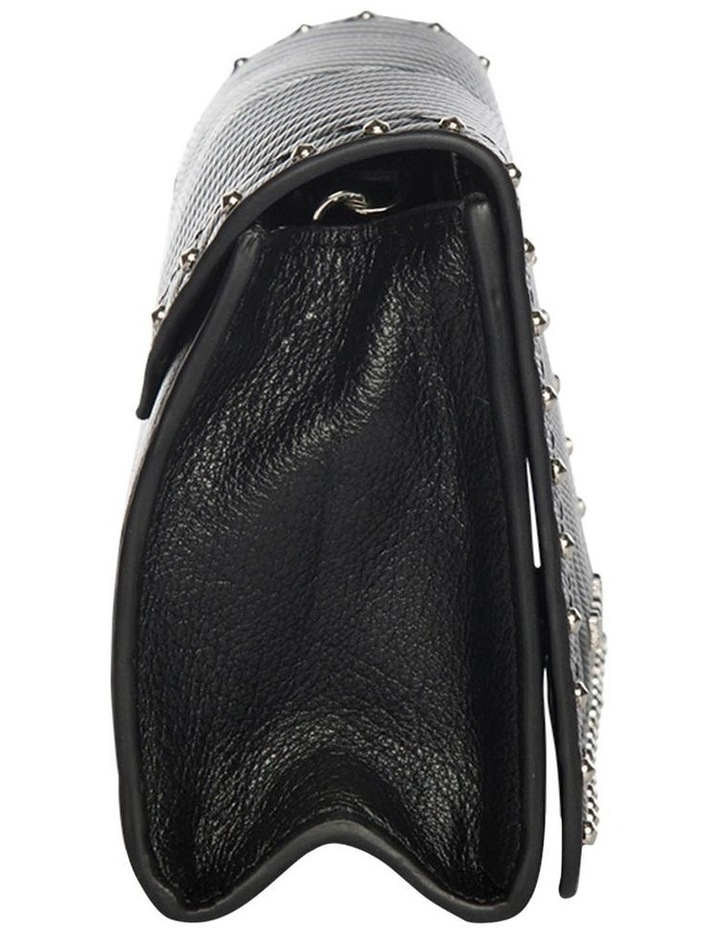 Chevron Black Stud Leather Mini Bag image 5