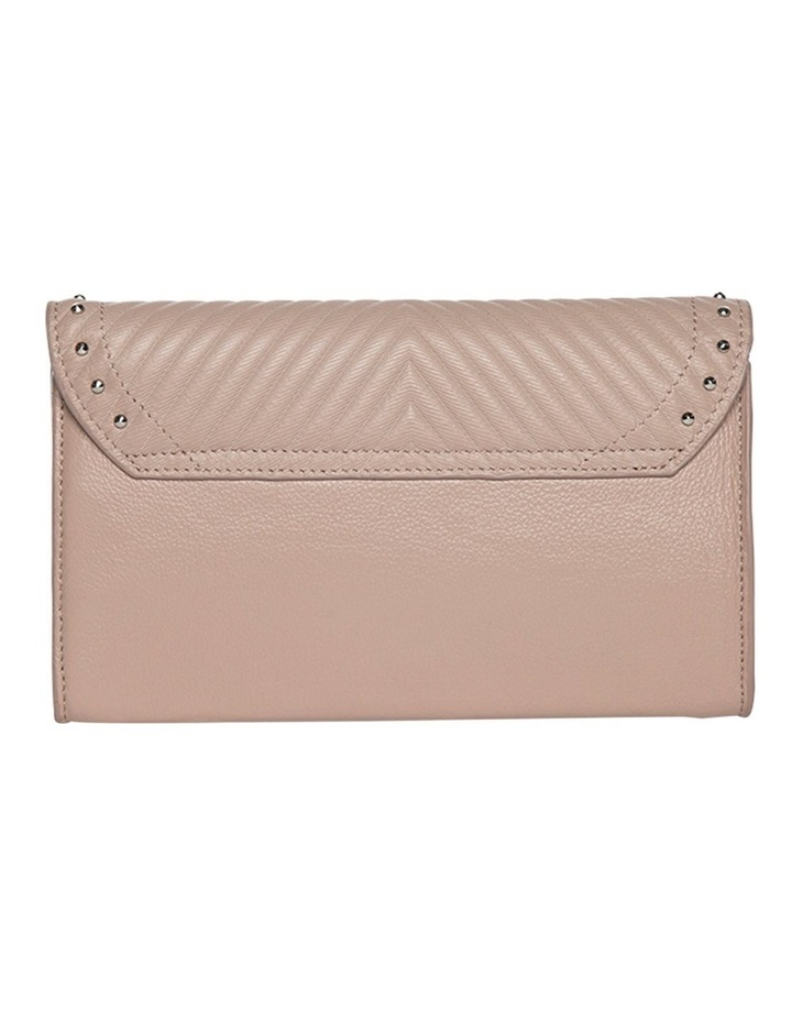 Chevron Stud Leather Mini Bag - Taupe image 1
