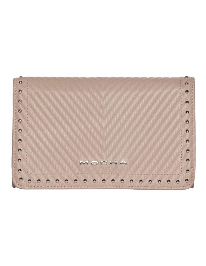 Chevron Stud Leather Mini Bag - Taupe image 2