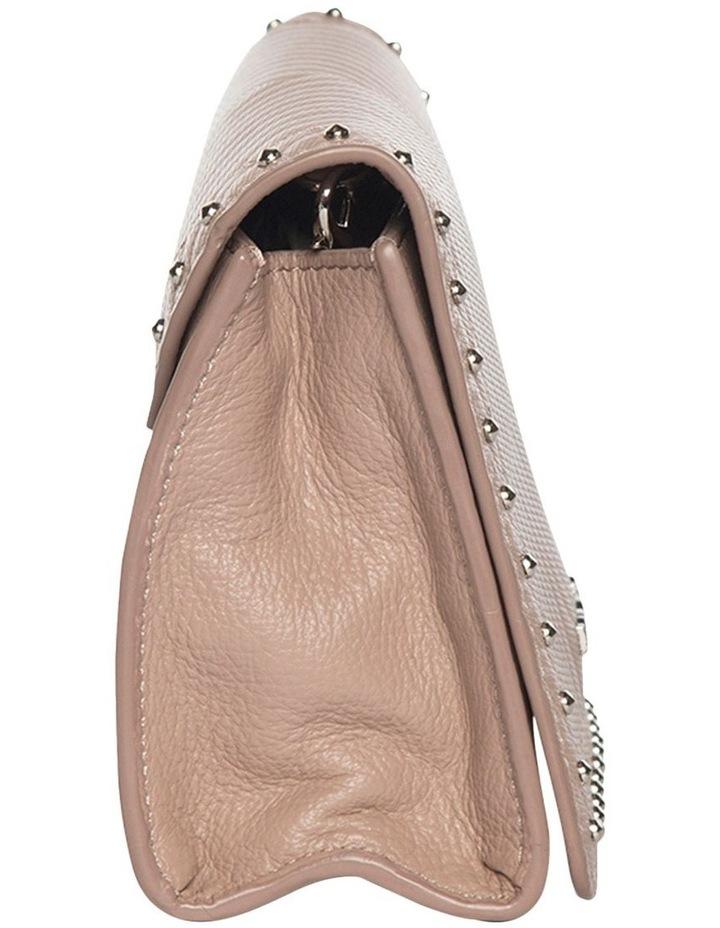 Chevron Stud Leather Mini Bag - Taupe image 3