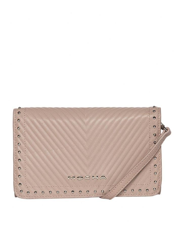 Chevron Stud Leather Mini Bag - Taupe image 4