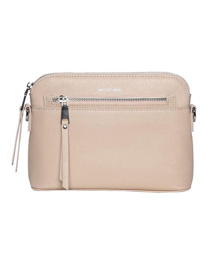 Joan Zip Clutch Leather Crossbody Bag - Nude image 1