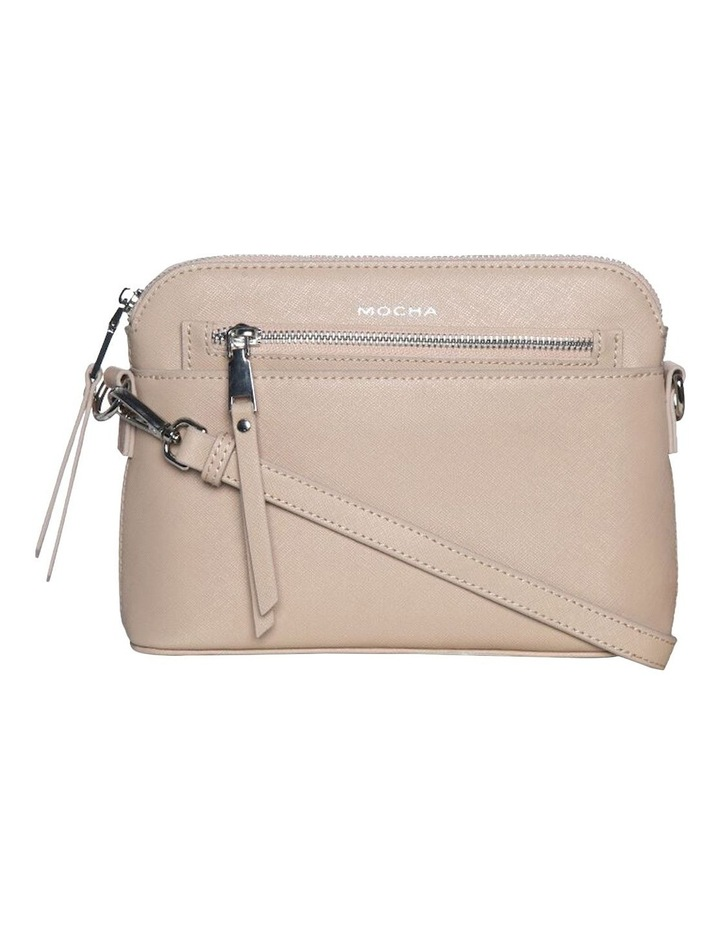 Joan Zip Clutch Leather Crossbody Bag - Nude image 3