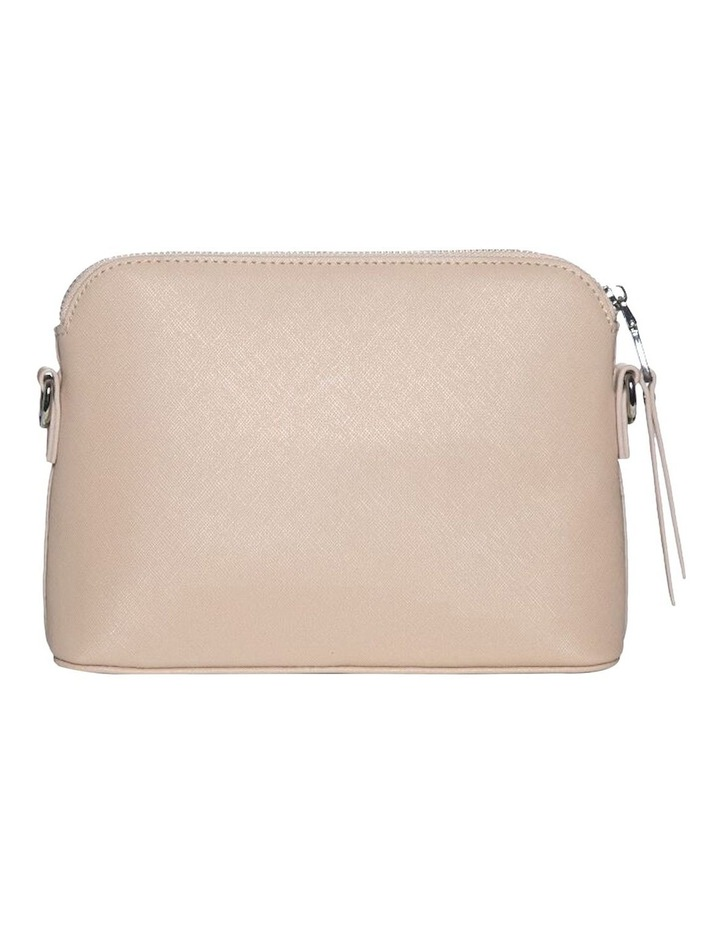 Joan Zip Clutch Leather Crossbody Bag - Nude image 5