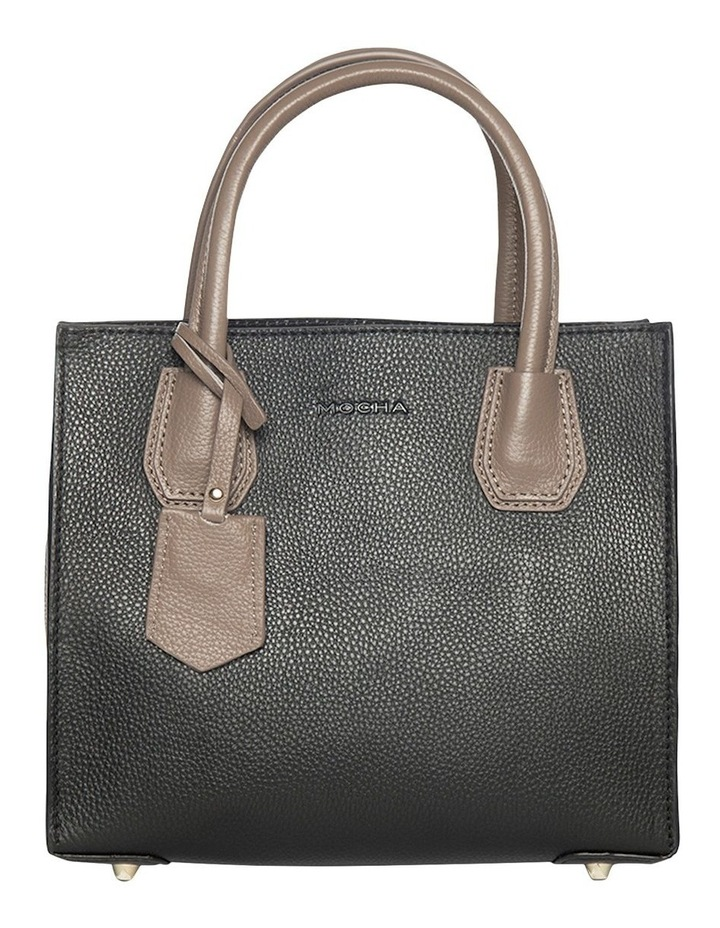 Contrast Minnie Leather Tote - Black/Taupe image 1