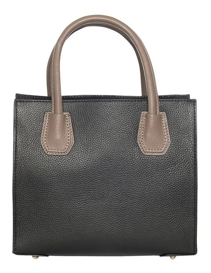 Contrast Minnie Leather Tote - Black/Taupe image 2