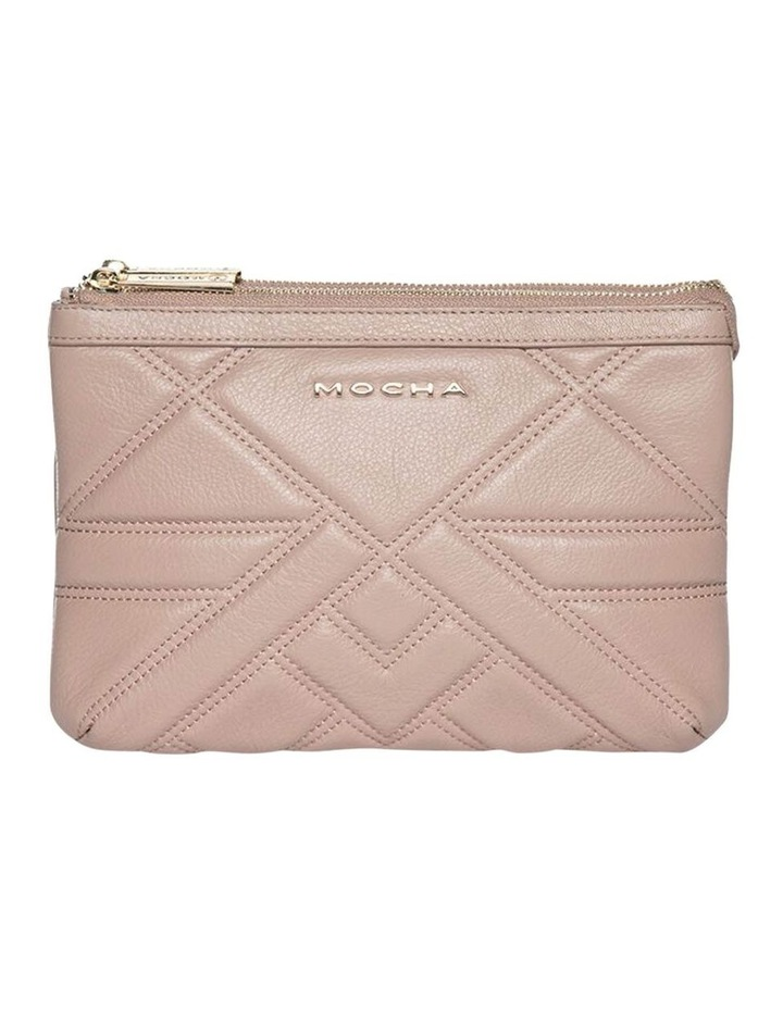 Aztec Double Leather Crossbody Bag - Taupe image 1