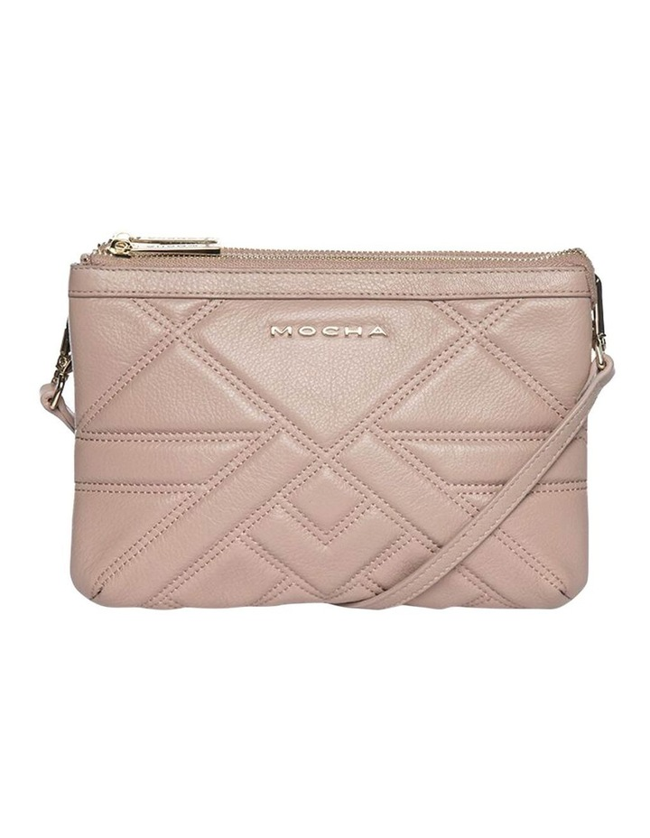 Aztec Double Leather Crossbody Bag - Taupe image 2