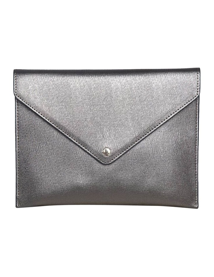 Becca Envelop Clutch-Metallic Grey image 1