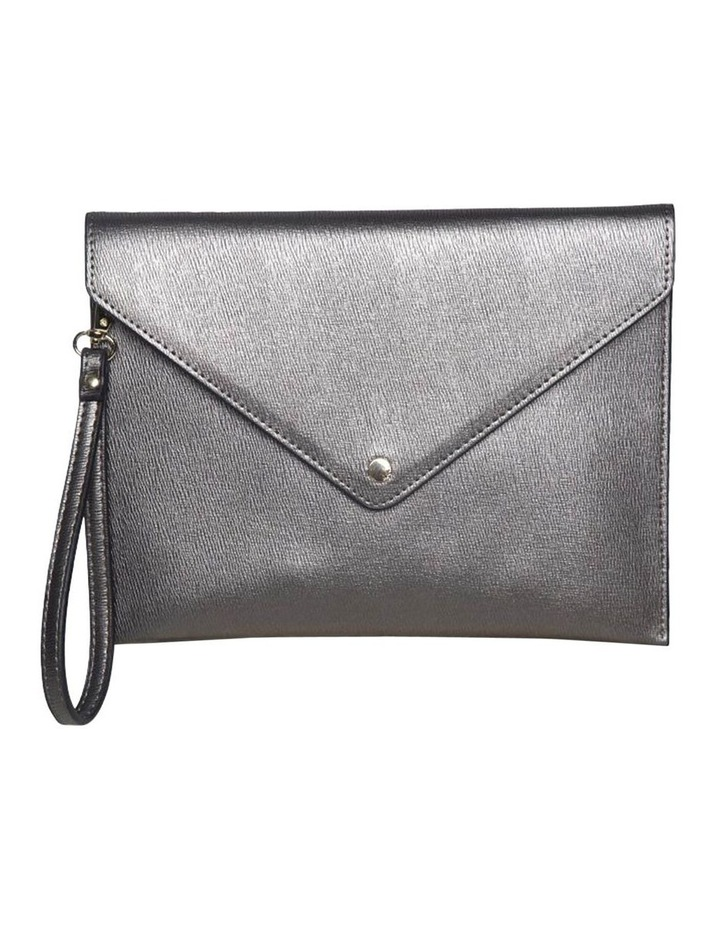 Becca Envelop Clutch-Metallic Grey image 2