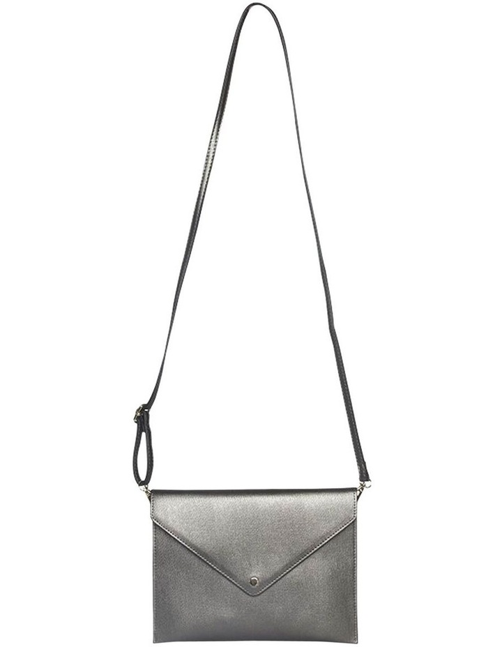 Becca Envelop Clutch-Metallic Grey image 3
