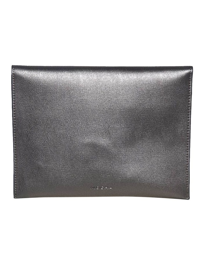 Becca Envelop Clutch-Metallic Grey image 5