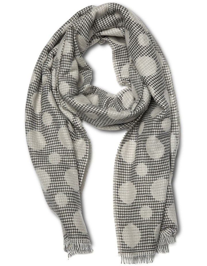 Double Sided Dot Scarf -  Grey image 1