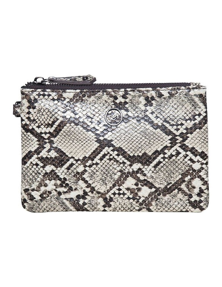 Snake Embossed Coin Wallet - Black image 1