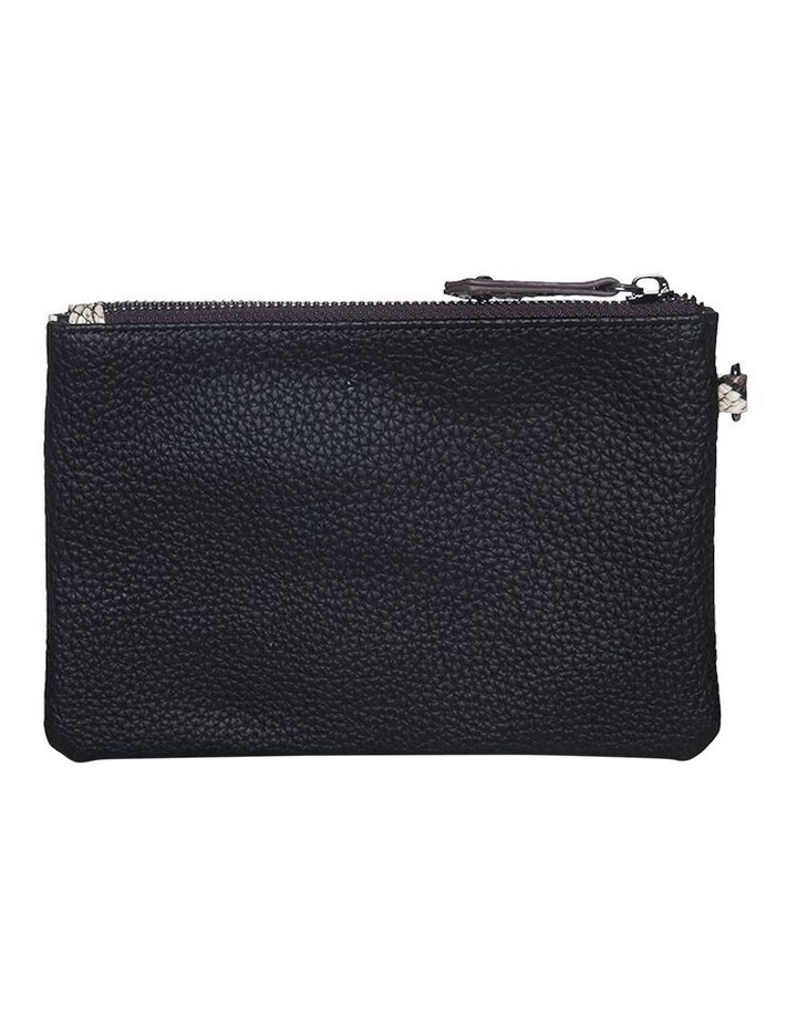 Snake Embossed Coin Wallet - Black image 2