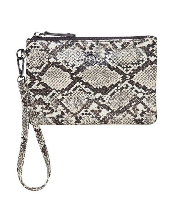 Snake Embossed Coin Wallet-Taupe image 2