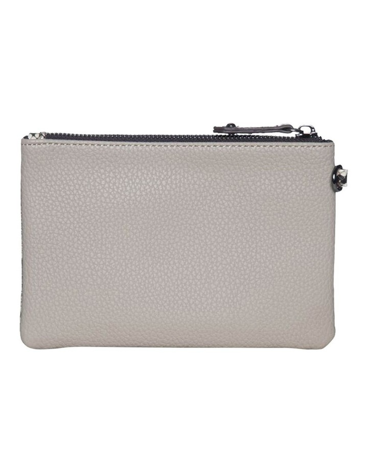 Snake Embossed Coin Wallet-Taupe image 4