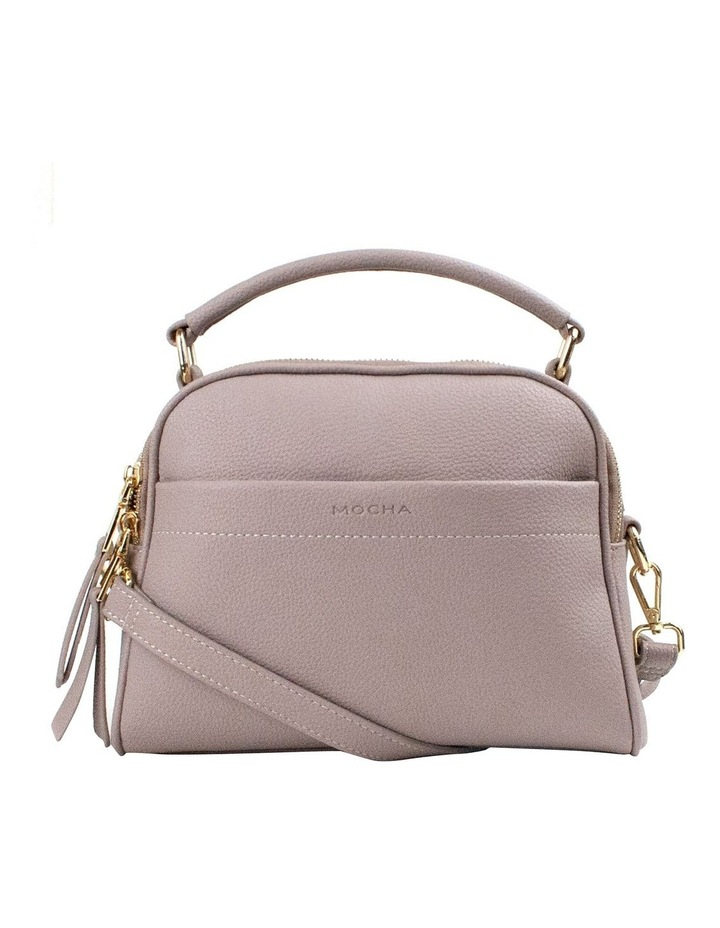 Michelle Double Zip Crossbody - Taupe image 1