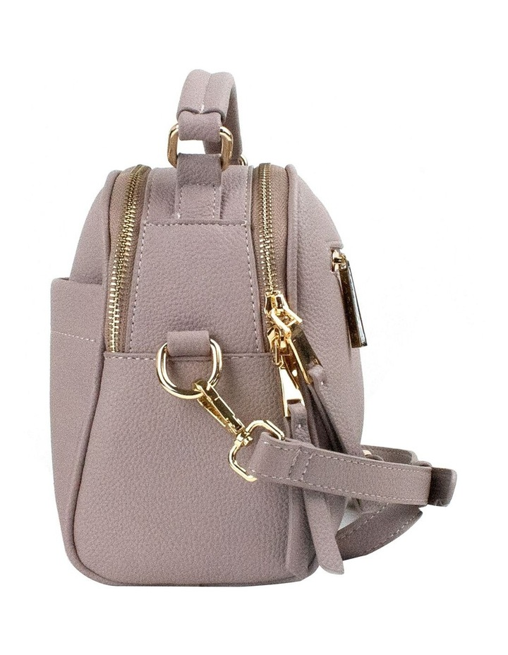 Michelle Double Zip Crossbody - Taupe image 3