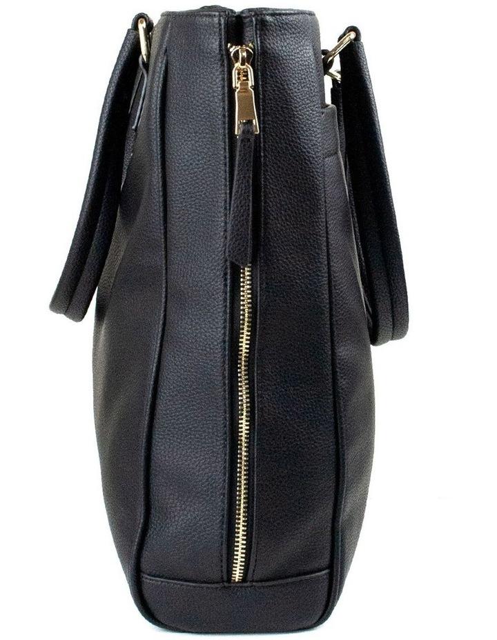 Michelle Double Zip Tote - Black image 3