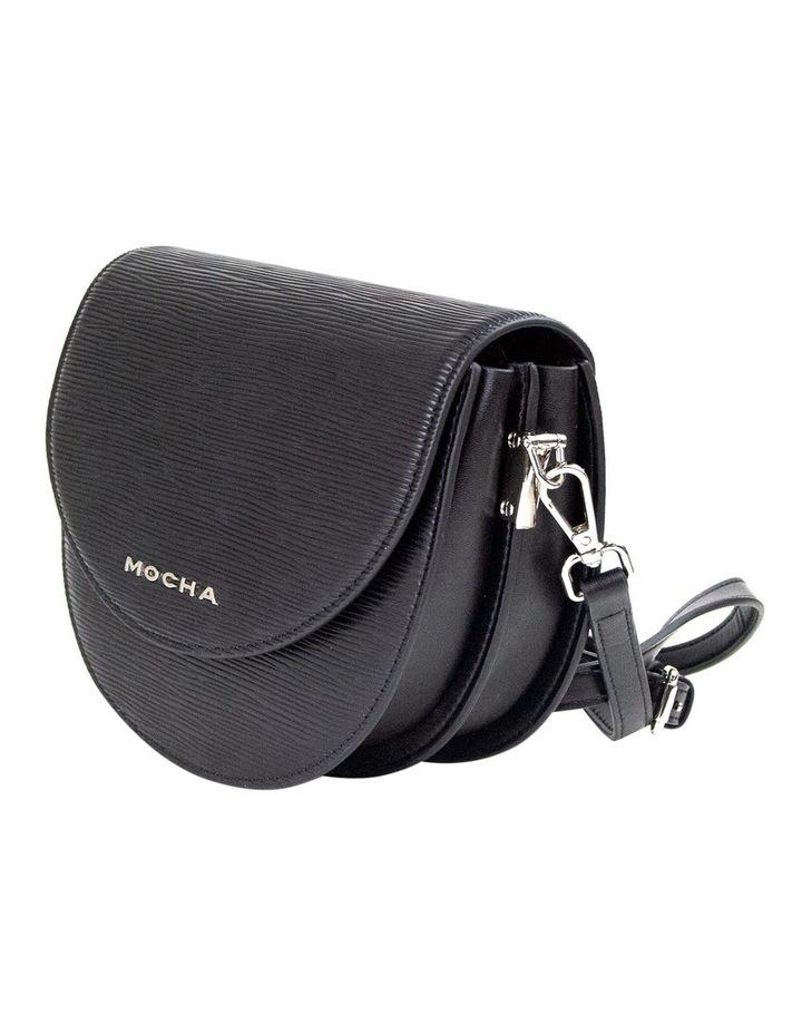 Zabrina Leather Saddle Crossbody - Black image 3